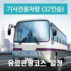32인승차량 + 전용기사 -  유료관광지 일정